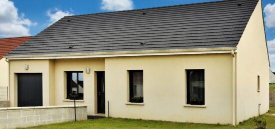 Maison moderne de plain-pied avec garage intégré à Breteuil (60) !