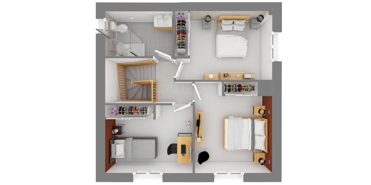 plan étage bastide
