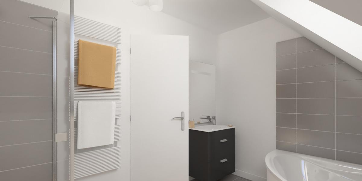 salle de bains maison moderne
