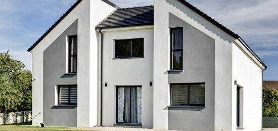 Maison contemporaine à étage de 139 m² près de Neuvillalais (72)