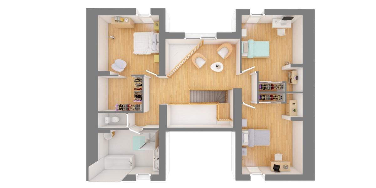 étage maison à étage moderne