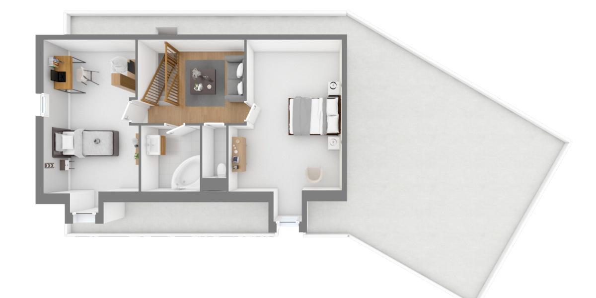 étage maison cerise