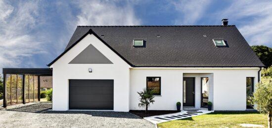 Maison de plain-pied contemporaine de 131 m² près de Lavardin (72) avec combles aménageables.