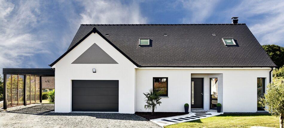 Maison de plain-pied contemporaine de 131 m² près de Lavardin (72) avec combles aménageables.  - Maison neuve de plain-pied