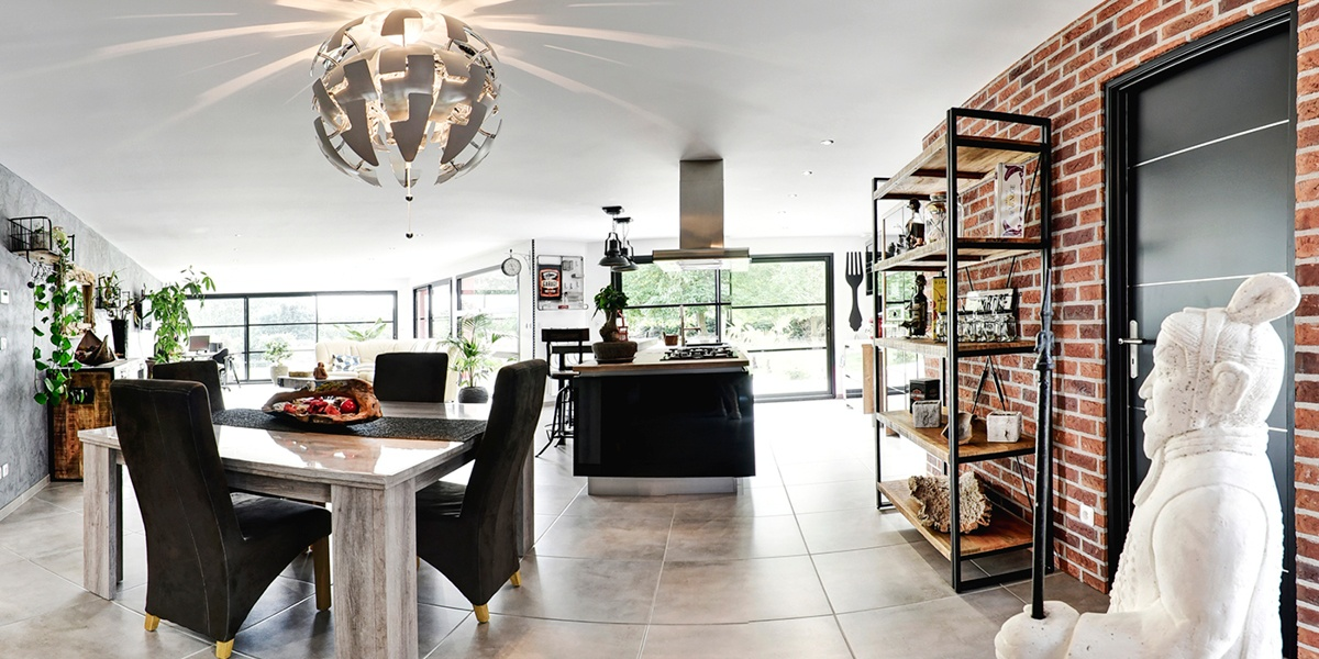 plain pied intérieur cuisine 2