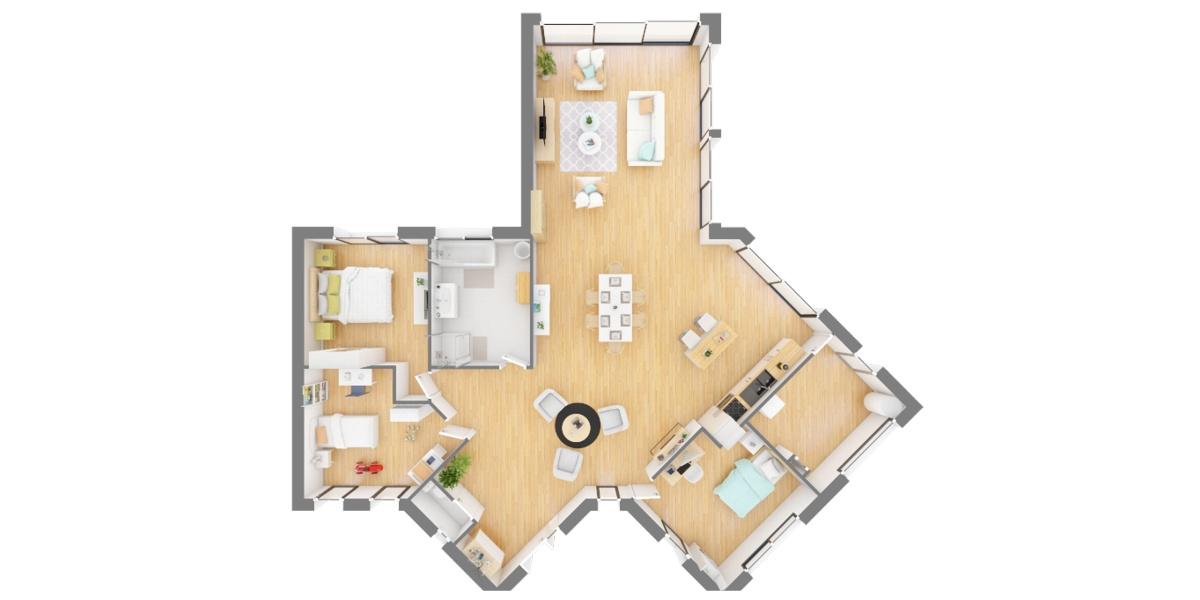 plan maison en étoile