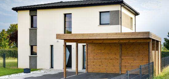 Maison familiale en enduit de 169 m² à Anzin-Saint-Aubin (62).