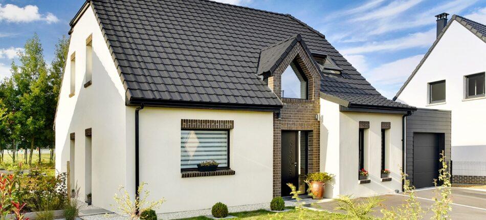 Maison en briques moderne de 126 m² à Dainville (62).  - maison en briques moderne