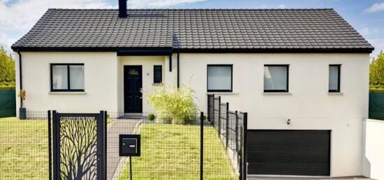 Plan maison de plain-pied avec sous-sol de 126 m² à Anzin-Saint-Aubin (62).