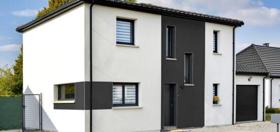Plan de maison 4 pans à étage de 128 m² à Anzin-Saint-Aubin (62).