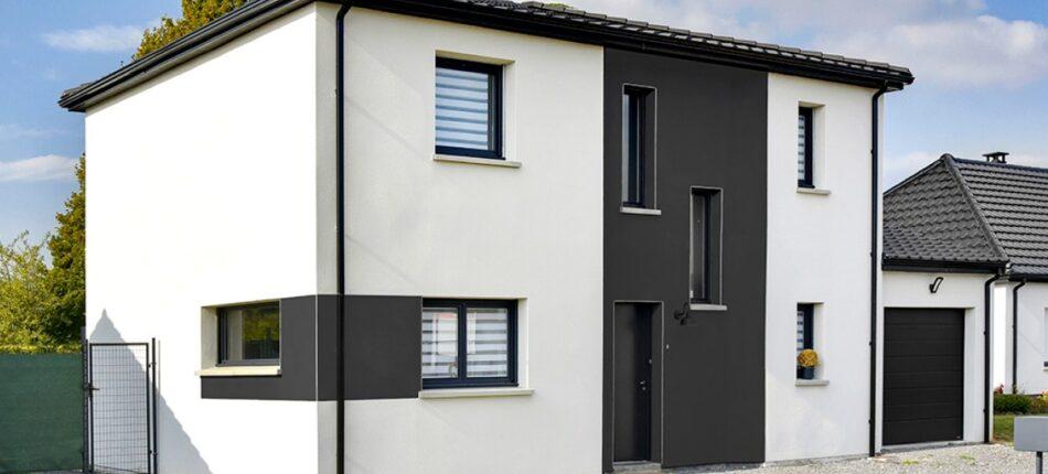 Plan de maison 4 pans à étage de 128 m² à Anzin-Saint-Aubin (62).  - maison 4 pans