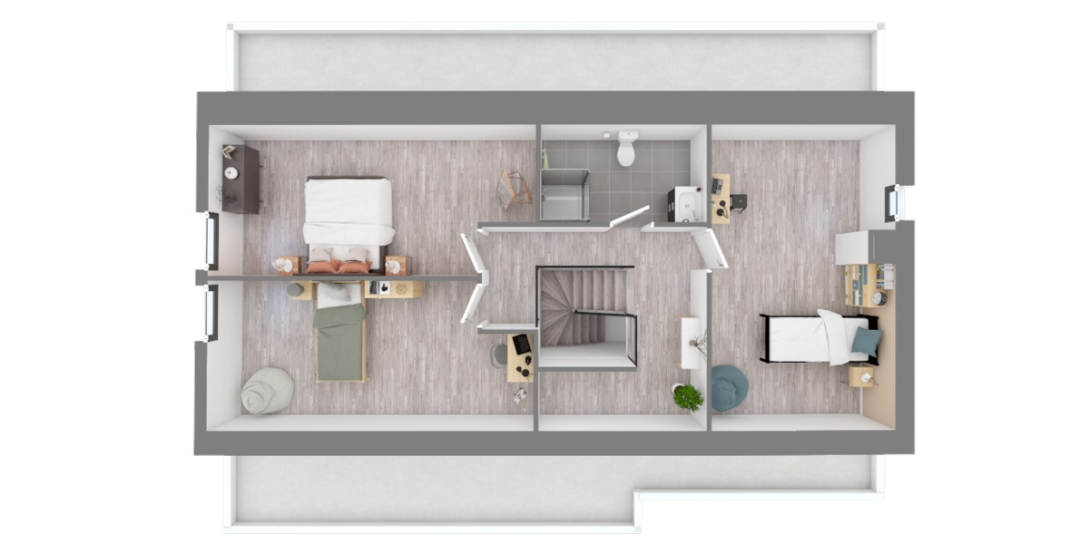 plan étage maison étage
