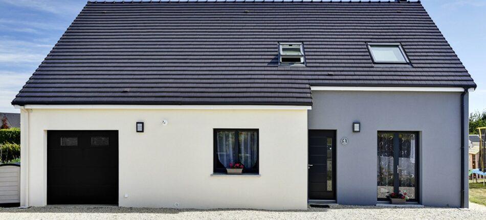Maison contemporaine à étage de 147 m² près de Lonrai (61) !  - façade maison lonrai