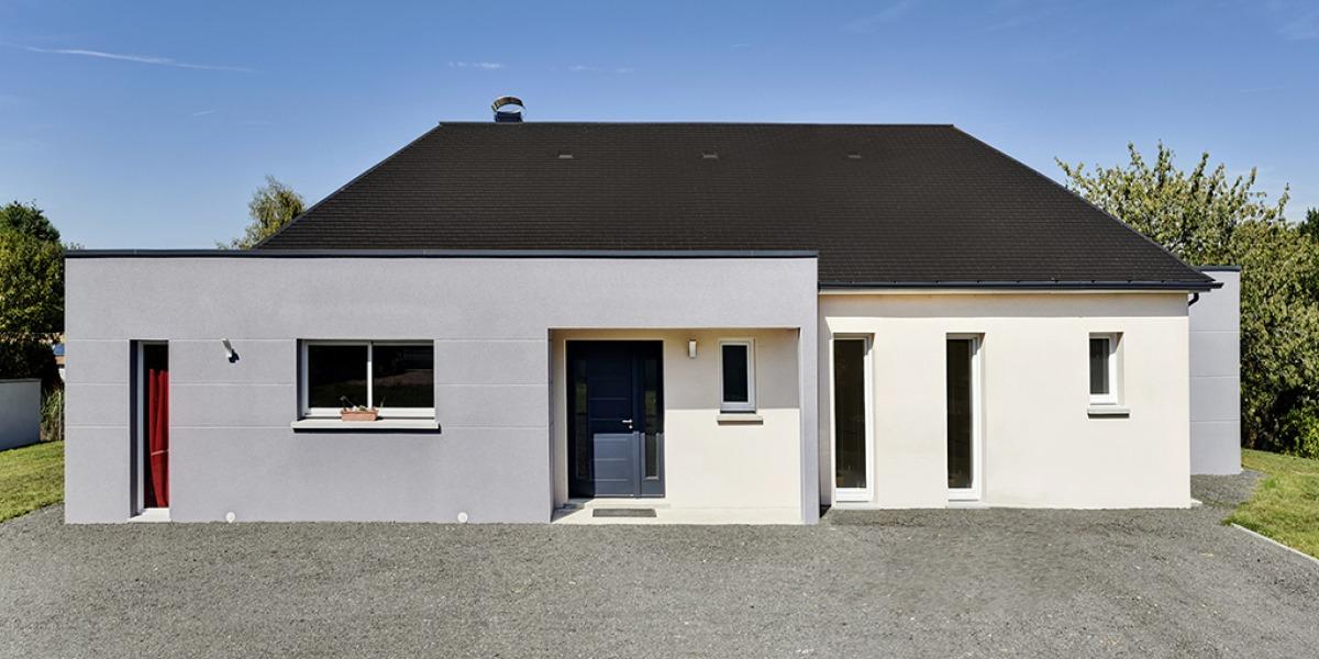 plan maison plain-pied-4-chambres