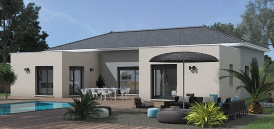 Plan de maison Surface terrain 140 m2 - 4 pièces - 3  chambres -  avec garage