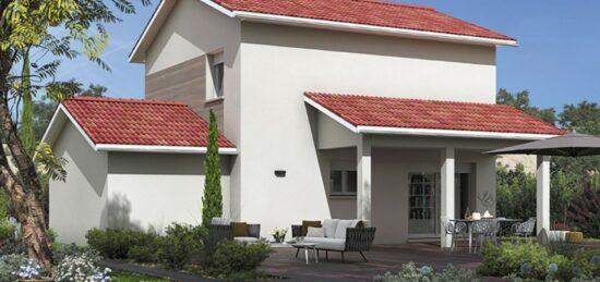 Plan de maison Surface terrain 85 m2 - 4 pièces - 3  chambres -  avec garage