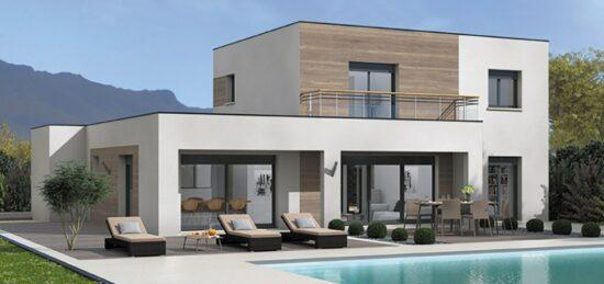 Plan de maison Surface terrain 110 m2 - 5 pièces - 4  chambres -  avec garage