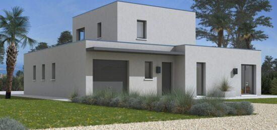 Plan de maison Surface terrain 120 m2 - 4 pièces - 3  chambres -  avec garage