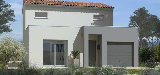 Plan de maison Surface terrain 92 m2 - 4 pièces - 3  chambres -  avec garage