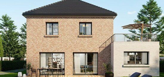 Plan de maison Surface terrain 160 m2 - 7 pièces - 5  chambres -  avec garage