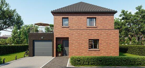 Plan de maison Surface terrain 120 m2 - 7 pièces - 4  chambres -  avec garage